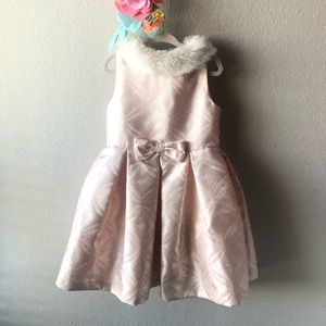 Janie and Jack Girls winter Holiday Pink Dress